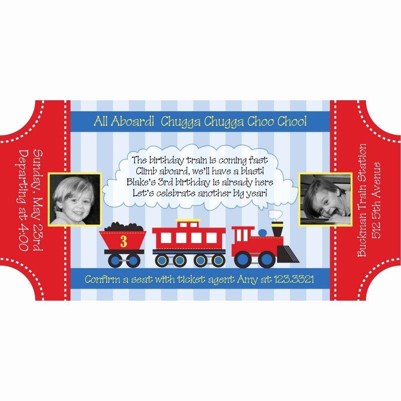 Train Ticket Birthday Invitation Lovely Choo Choo Train Ticket Birthday Party Printable