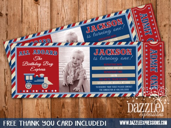 Train Ticket Birthday Invitation Lovely Printable Vintage Train Ticket Birthday Invitation Boys
