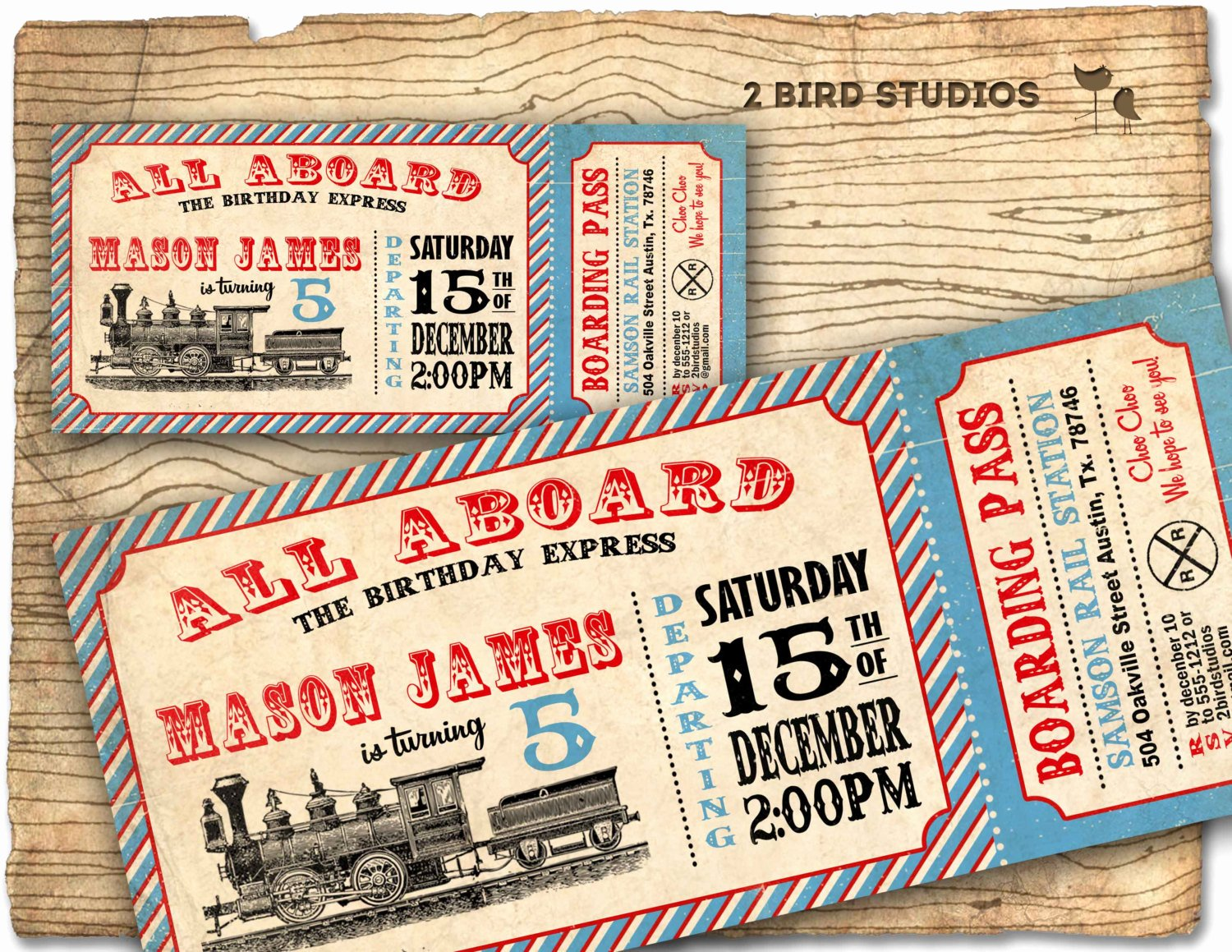 Train Ticket Birthday Invitation New Train Invitation Train Ticket Birthday Party by 2birdstudios