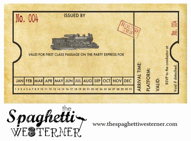 Train Ticket Birthday Invitation Unique Free Printable Train Ticket Birthday Invitation