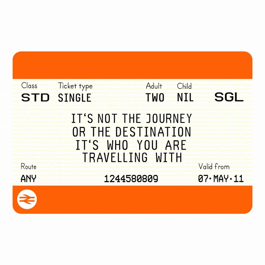 Train Ticket Template Awesome Personalised Train Ticket Print by Of Life & Lemons