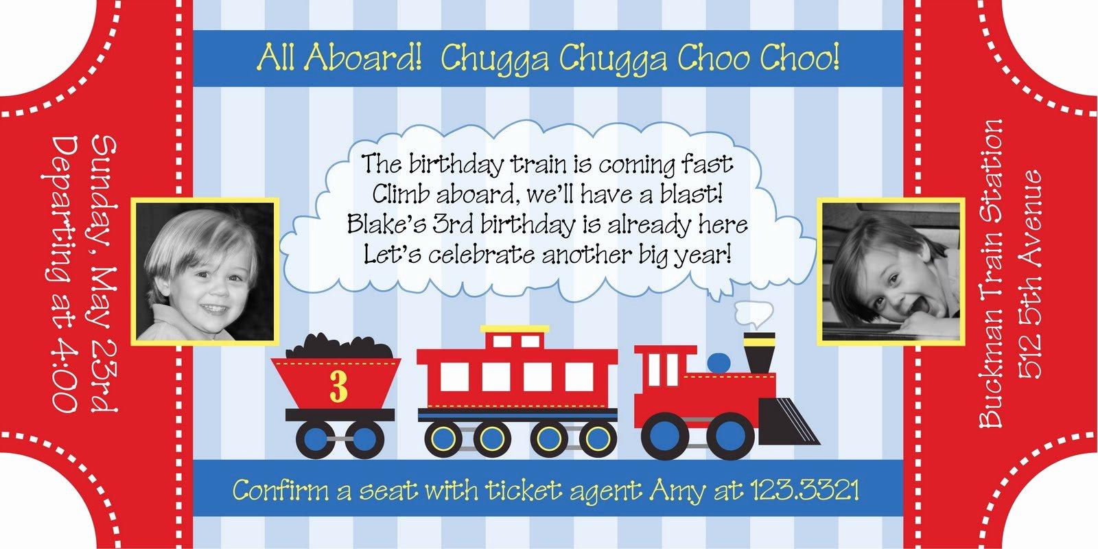 Train Ticket Template New All Aboard the Choo Choo Train Party anders Ruff Custom