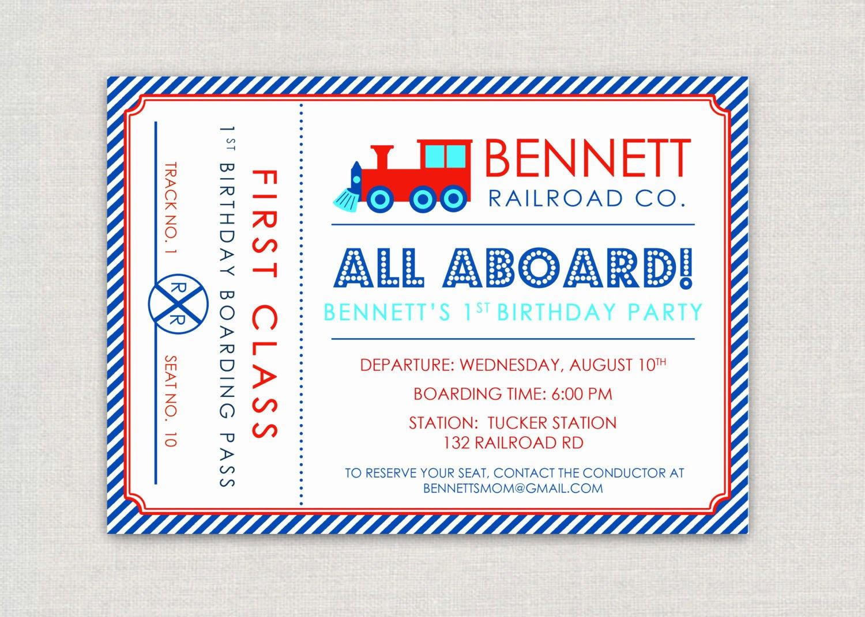 Train Ticket Template Unique Item Details
