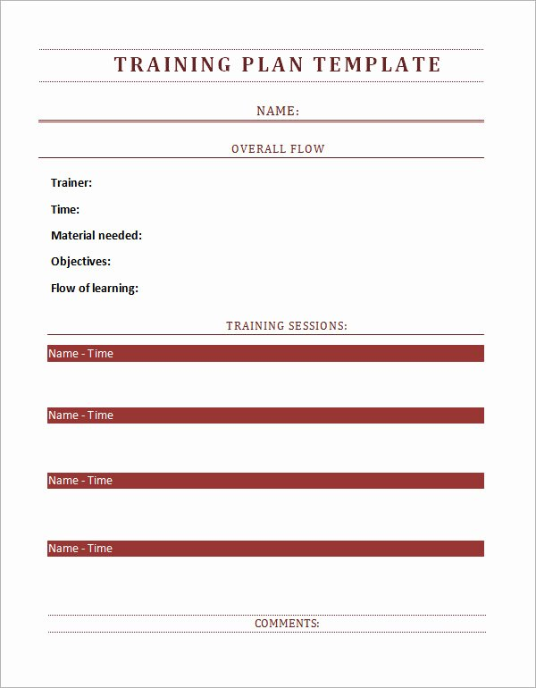 Training Agenda Template In Word Best Of Training Plan Template 16 Download Free Documents In