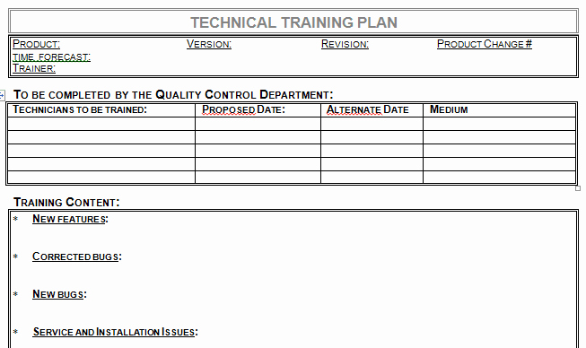 Training Agenda Template In Word Elegant Technical Training Plan Template Microsoft Word Download