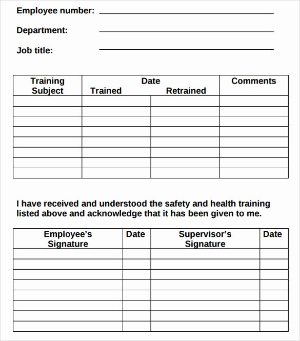 Training Agenda Template In Word Lovely 9 Free Training Log Templates Pdf Word