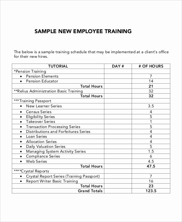 Training Agenda Template In Word Luxury 6 Employee Training Plan Templates Free Samples