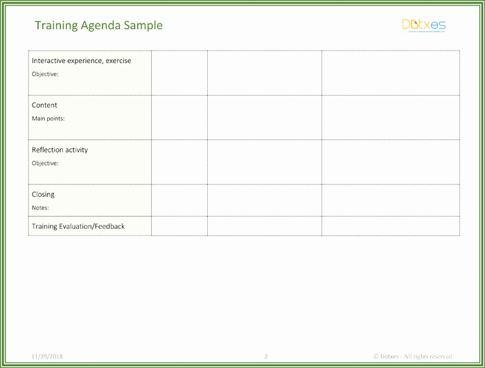 Training Agenda Template In Word Unique Free Training Agenda Template for Word Effective Agendas