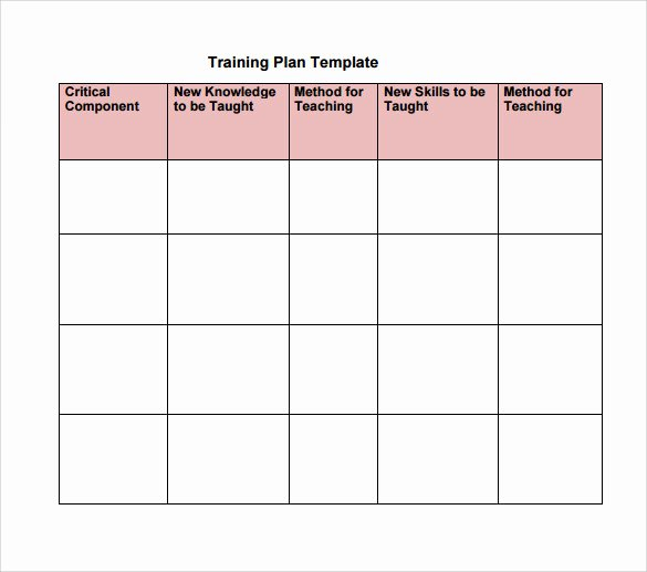 Training and Development Plan Example Fresh Training Plan Template 20 Download Free Documents In