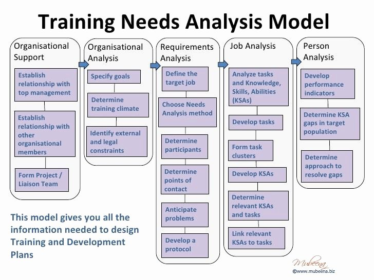 Training and Development Plan Example New organisational Training Needs Analysis Template Google