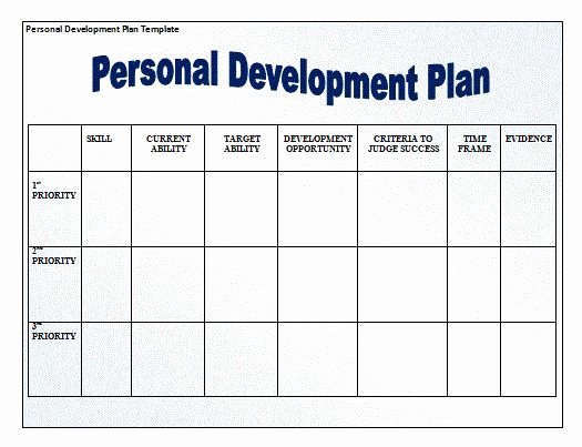 Training and Development Plan Template Fresh for Those that are Looking to Develop Grow as People