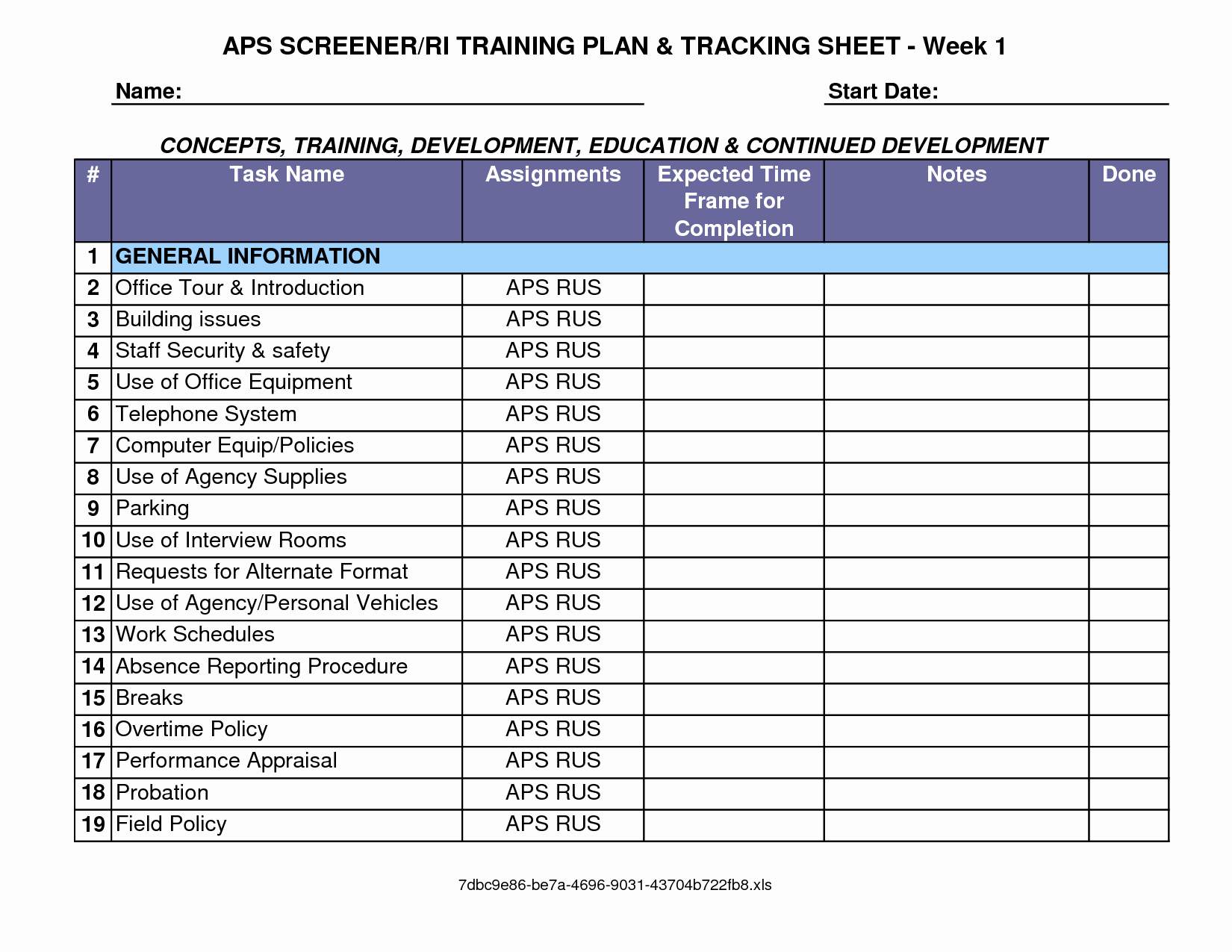 Training and Development Plan Template Fresh Training Plan Template