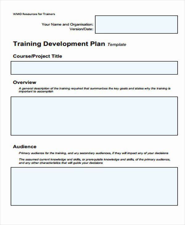 Training Development Plan Template Awesome 5 Training Plan Samples & Templates In Pdf