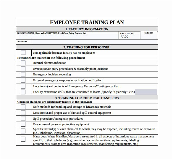 Training Development Plan Template Beautiful Training Plan Template 20 Download Free Documents In