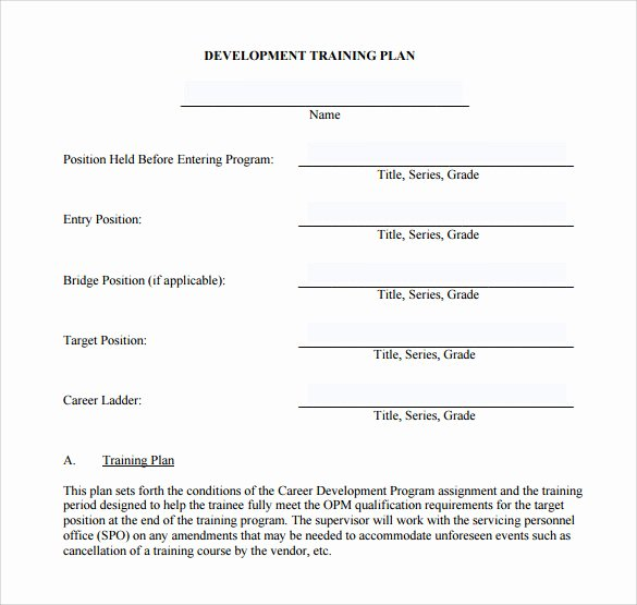 Training Development Plan Template Best Of Training Plan Template 20 Download Free Documents In