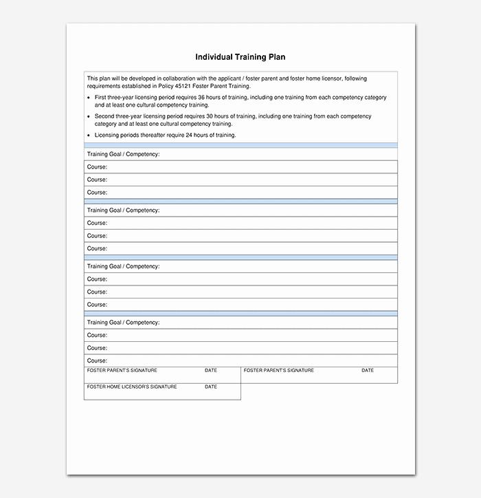 Training Development Plan Template Best Of Training Plan Template 26 Free Plans & Schedules