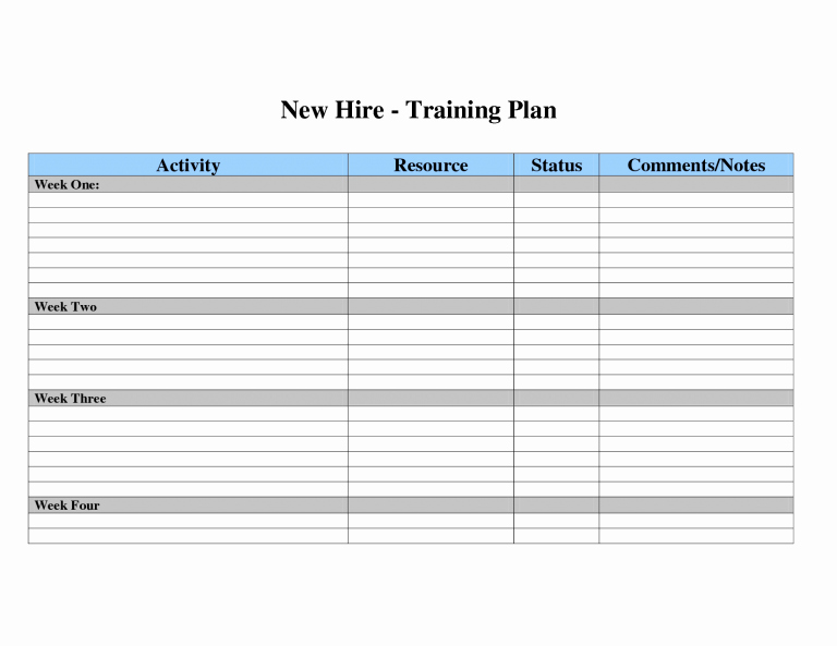 Training Development Plan Template Elegant Employee Development Plans Templates Employee Training