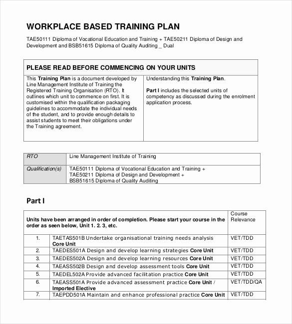 Training Development Plan Template Fresh 29 Training Plan Templates Doc Pdf