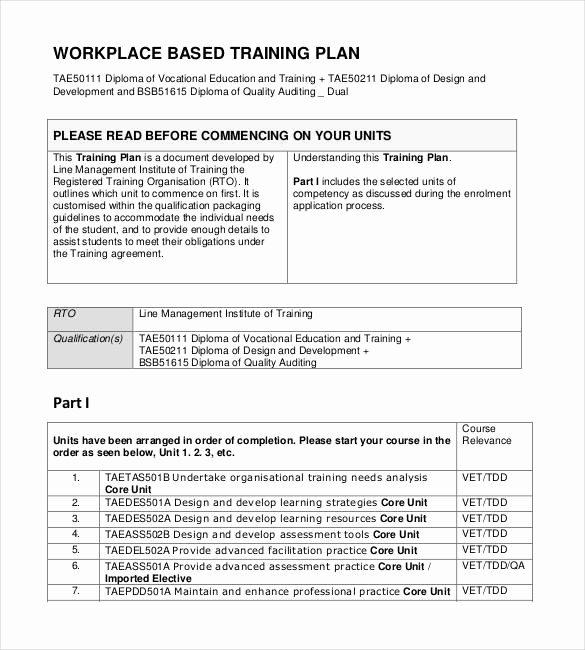Training Development Plan Template Fresh 29 Training Plan Templates Doc Pdf