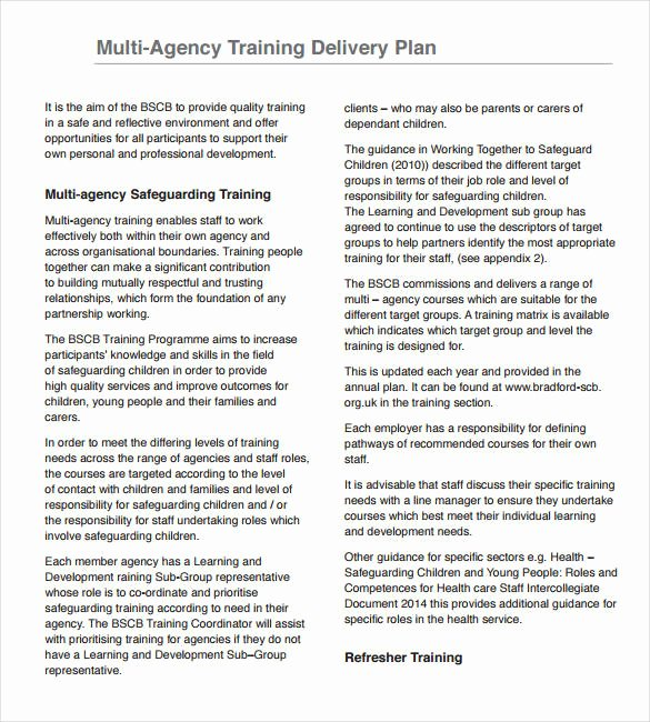 Training Development Plan Template Unique 29 Training Plan Templates Doc Pdf