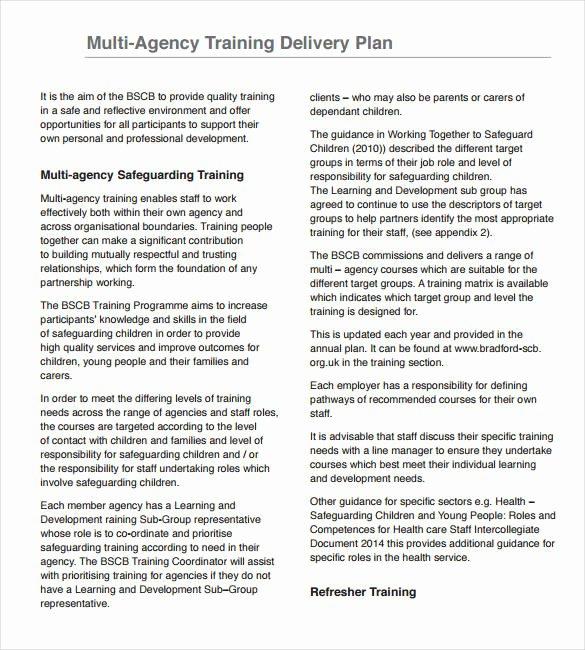 Training Development Plan Template Unique 29 Training Plan Templates Doc Pdf