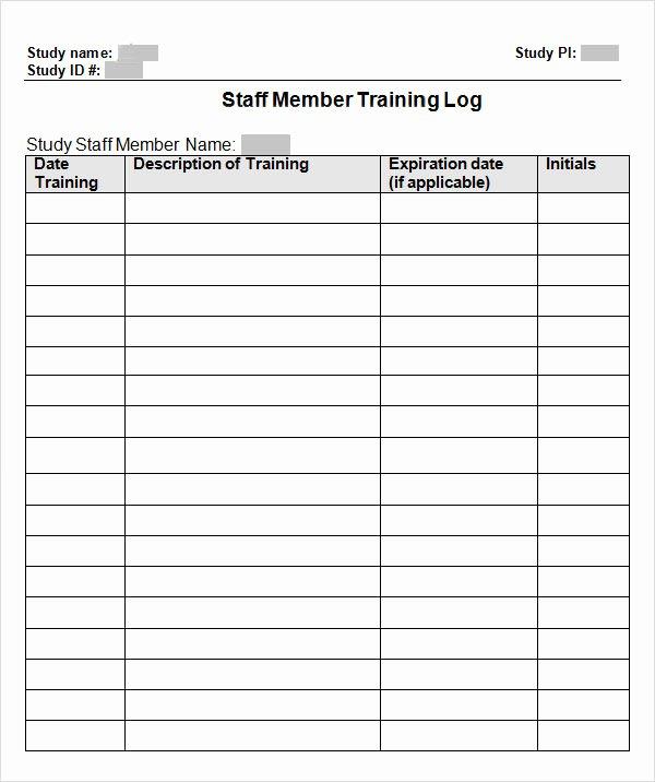 Training Log Template Luxury 9 Free Training Log Templates Pdf Word