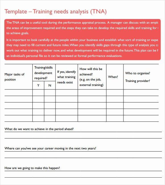 Training Needs Survey Luxury Training Needs Analysis Template 14 Download Documents
