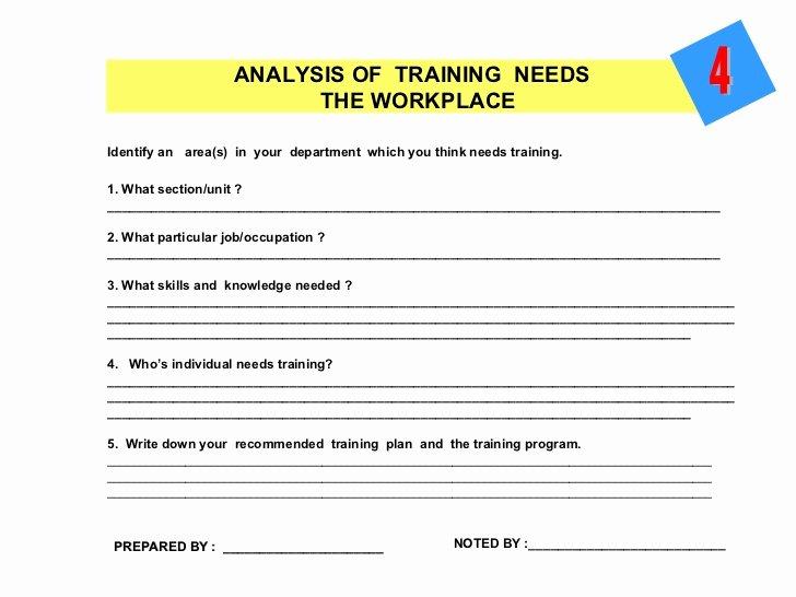 Training Needs Survey Luxury Workshop On Training Needs Analysis