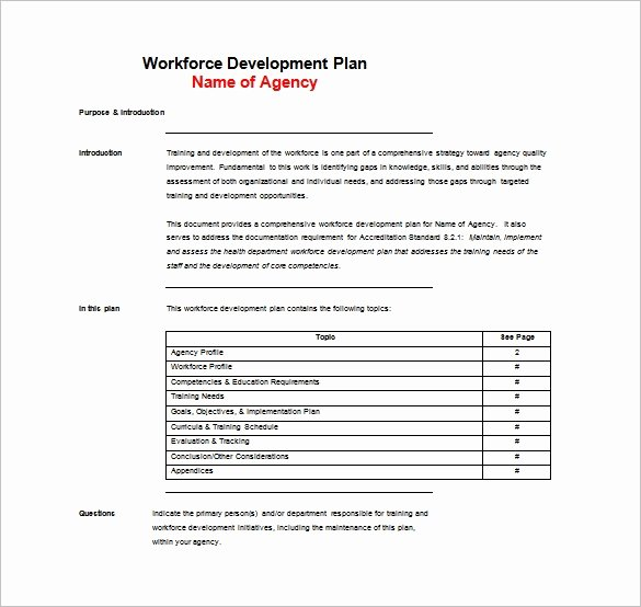 Training Outline Template Word Awesome 11 Training Plan Templates Word Pdf