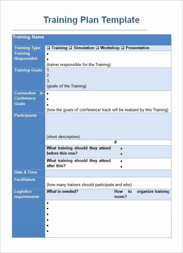 Training Outline Template Word Elegant Training Plan Template 20 Download Free Documents In