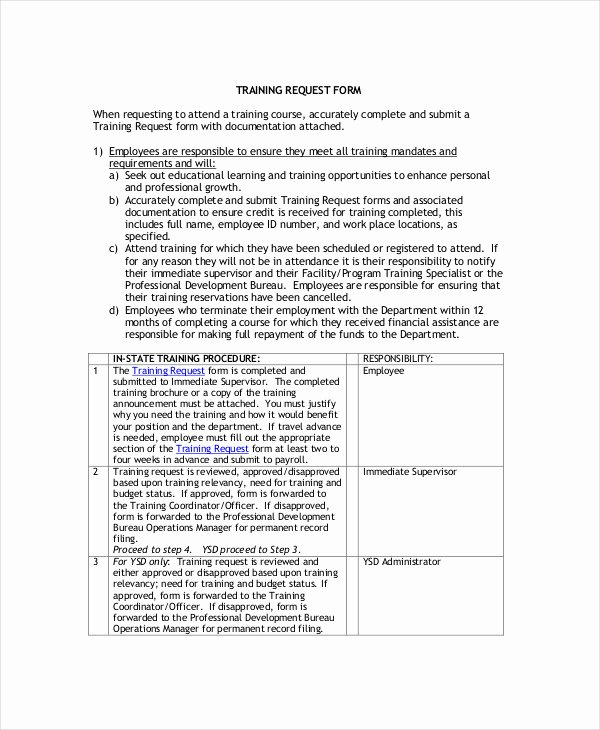 Training Request form Template Elegant Individual Employee Training Plan Template
