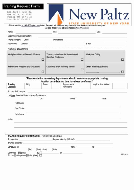 Training Request form Template Elegant top 16 Training Request form Templates Free to In