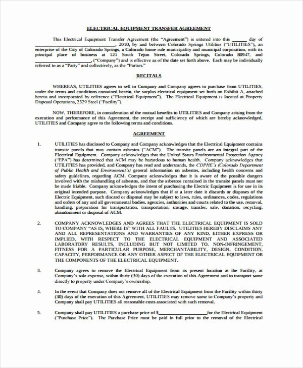 Transfer Of Business Ownership Agreement Template Awesome 12 Transfer Agreement Templates Free Word Pdf format