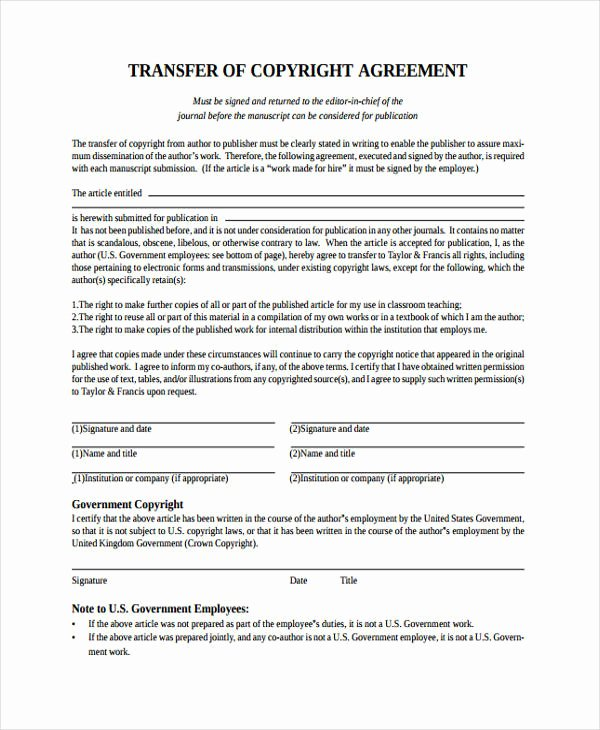 Transfer Of Ownership Agreement Template Awesome 12 Transfer Agreement Templates Free Word Pdf format