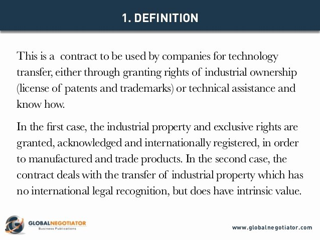 Transfer Of Ownership Agreement Template Beautiful International Technology Transfer Agreement Contract