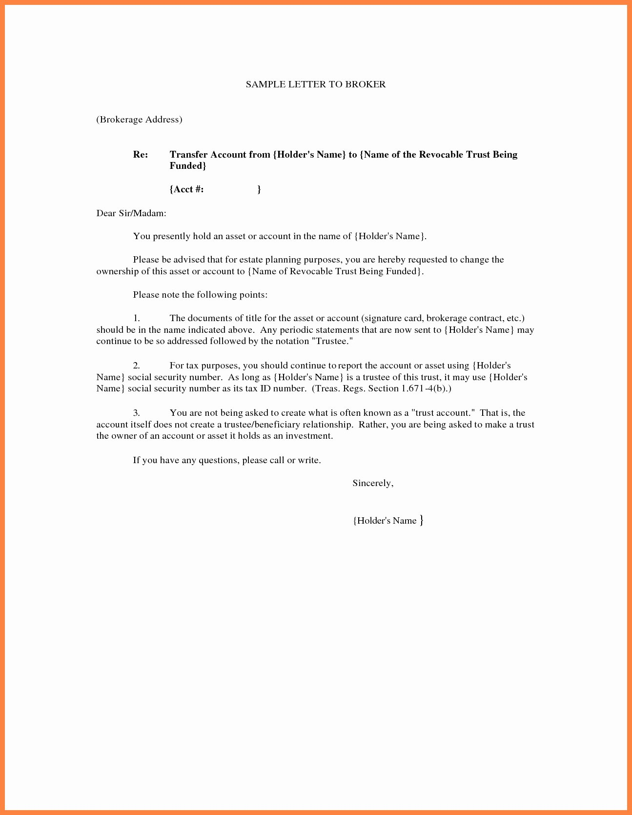 Transfer Of Ownership Agreement Template Inspirational Transfer Ownership Letter Template Examples
