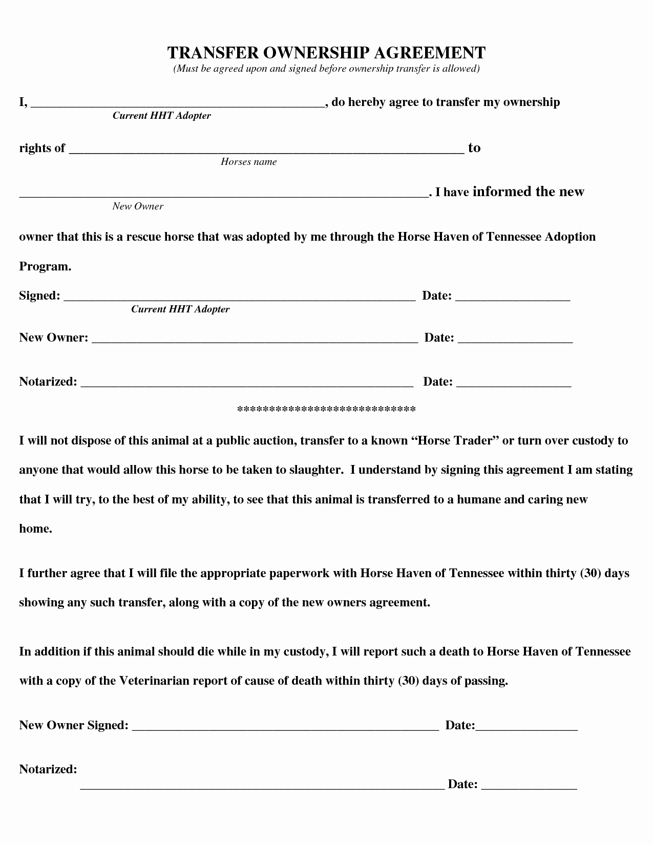 Transfer Of Ownership Agreement Template Lovely Transfer Business Ownership Agreement