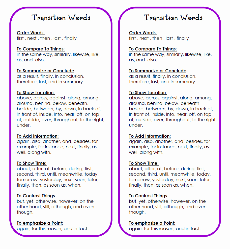 Transition Words for Papers Fresh Valanglia Connectors Transition Words and Linking Words