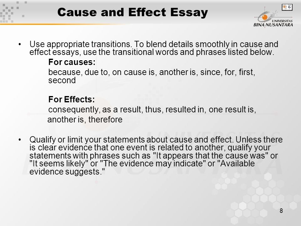 Transitions for Cause and Effect Fresh Transition Words for Cause and Effect Essay Transition Words