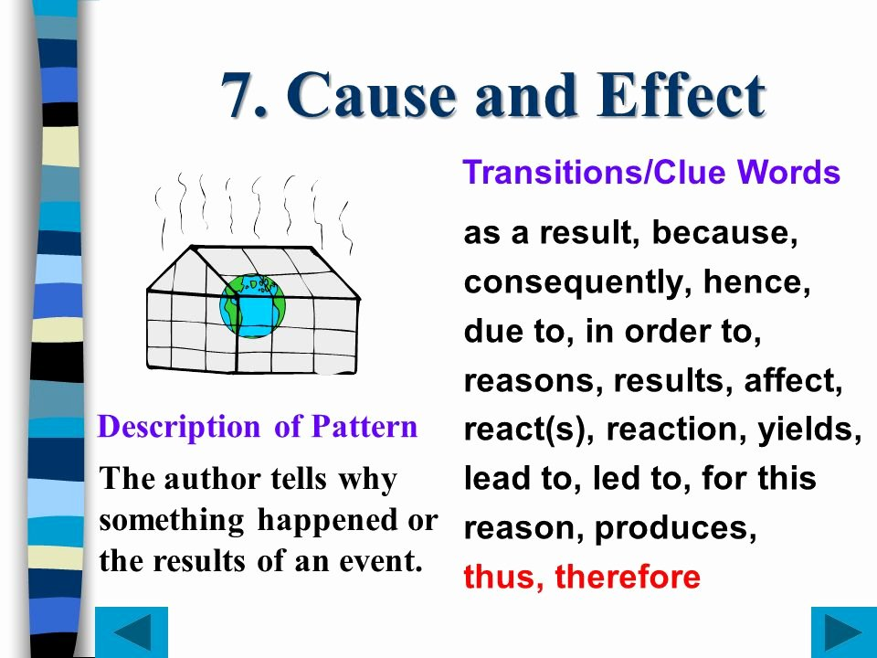 Transitions for Cause and Effect Lovely organizational Patterns Ppt Video Online