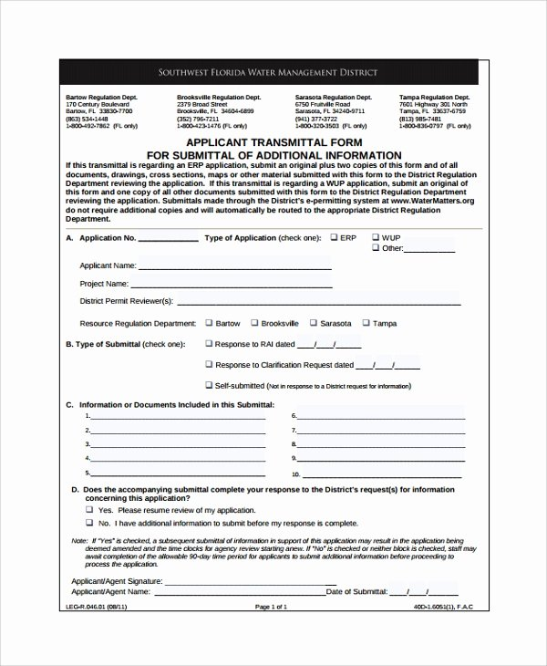 Transmittal form Sample Elegant 8 Sample Submittal Transmittal forms Pdf Word