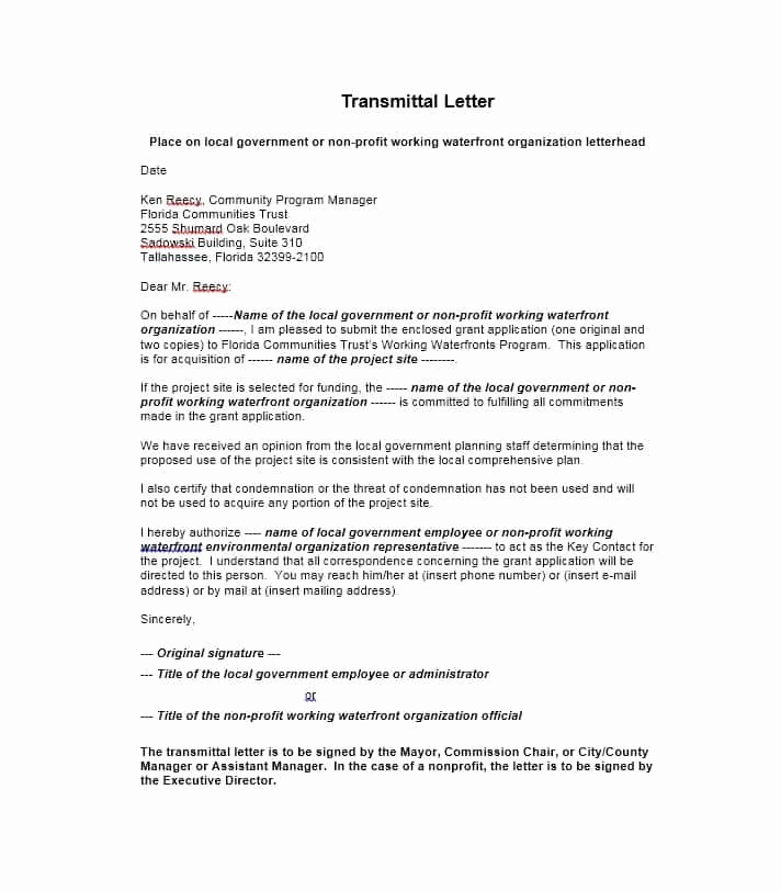 Transmittal form Sample New Letter Transmittal Template