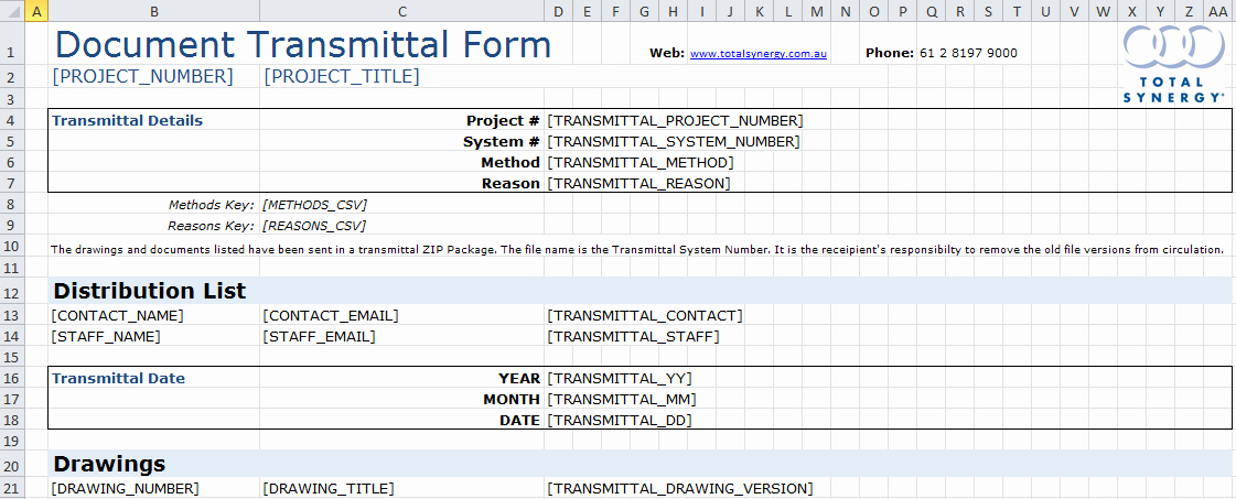 Transmittal form Templates Best Of Transmittal Ms Excel Template