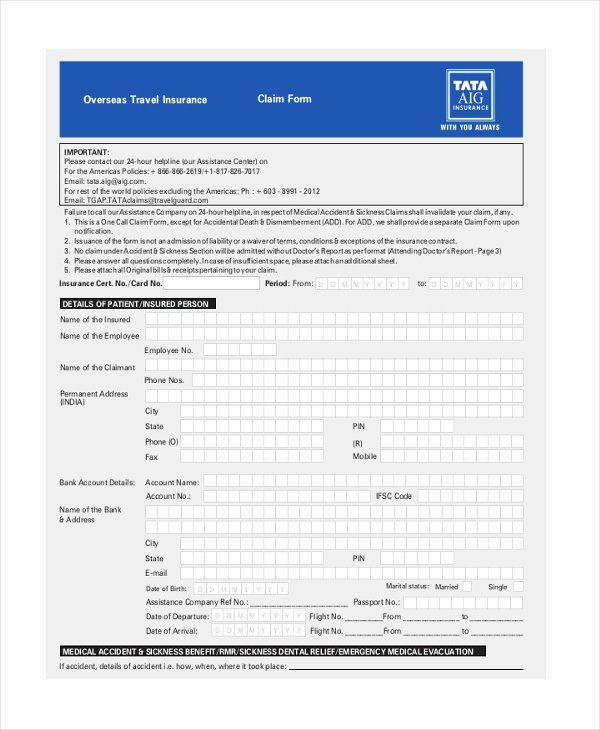 Travel Claim form Best Of Sample Travel Claim form 10 Free Documents In Pdf Doc