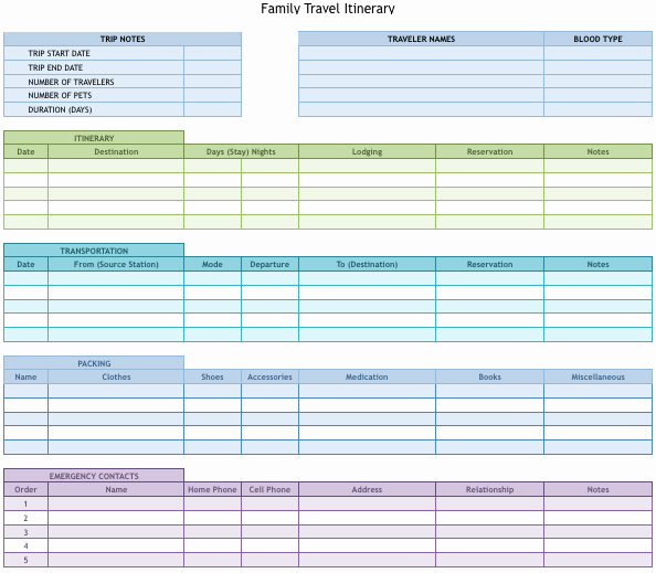 Travel Schedule Template Fresh 9 Useful Travel Itinerary Templates that are Free