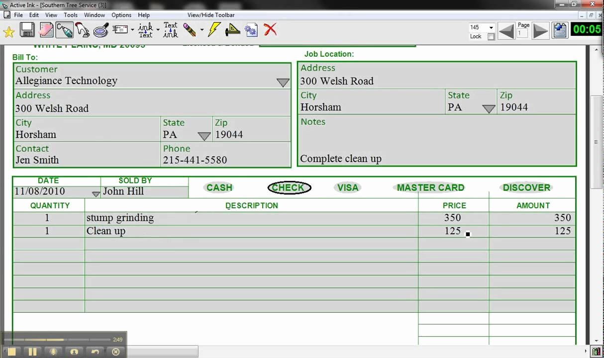 Tree Trimming Estimate Template Lovely Active Ink form by Allegiance Technology southern Tree