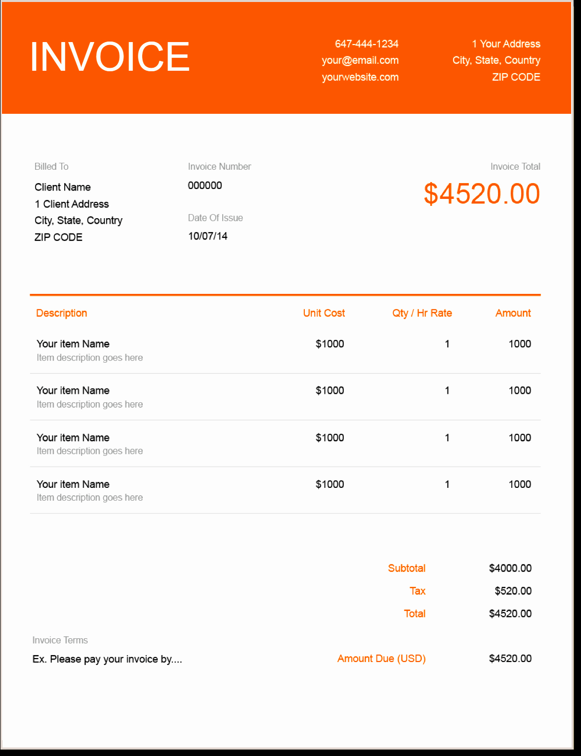 Tree Trimming Estimate Template Luxury Invoice Template Send In Minutes