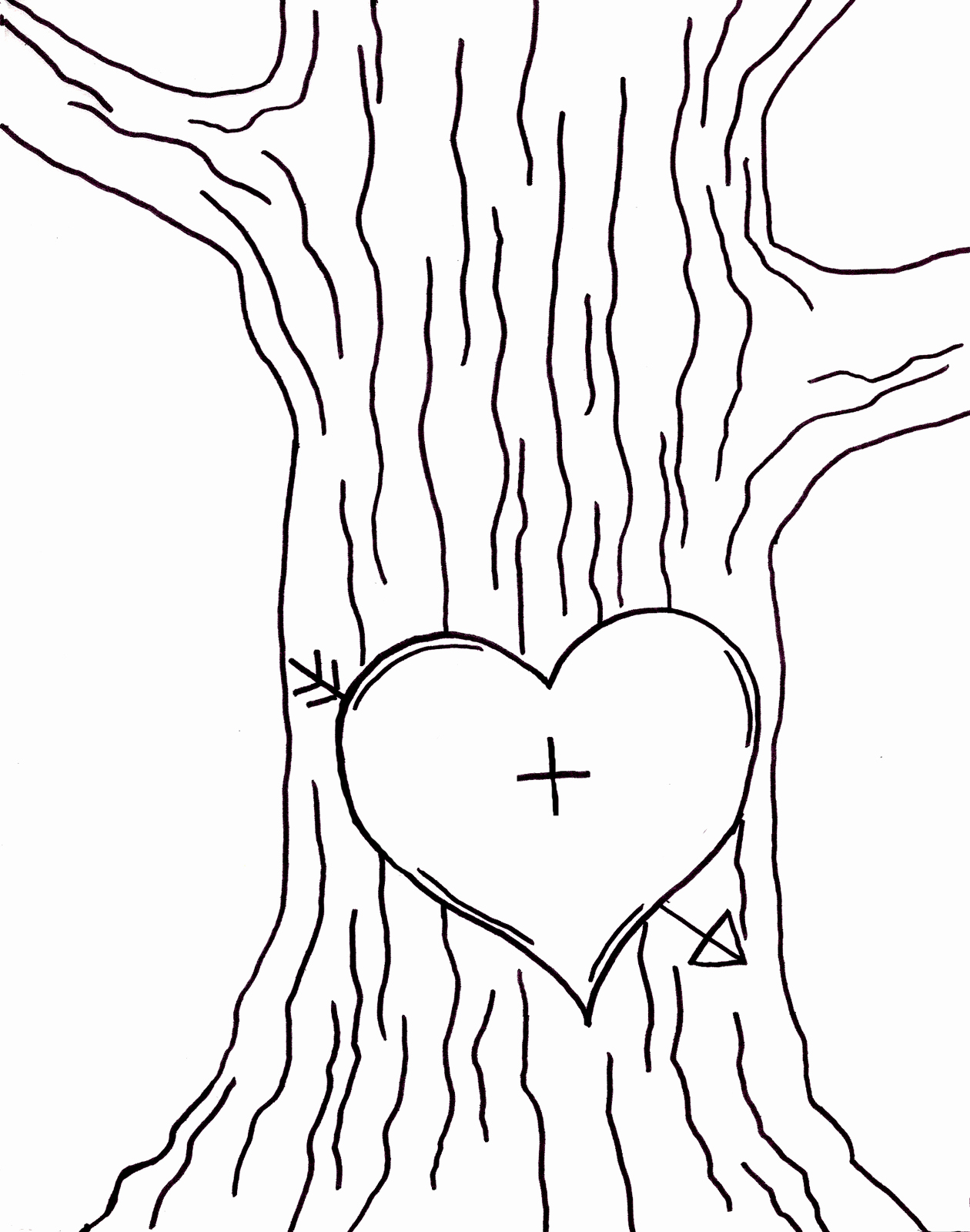 Tree Trunk Template Lovely Cat On A Limb Tree Love Embroidery Pattern