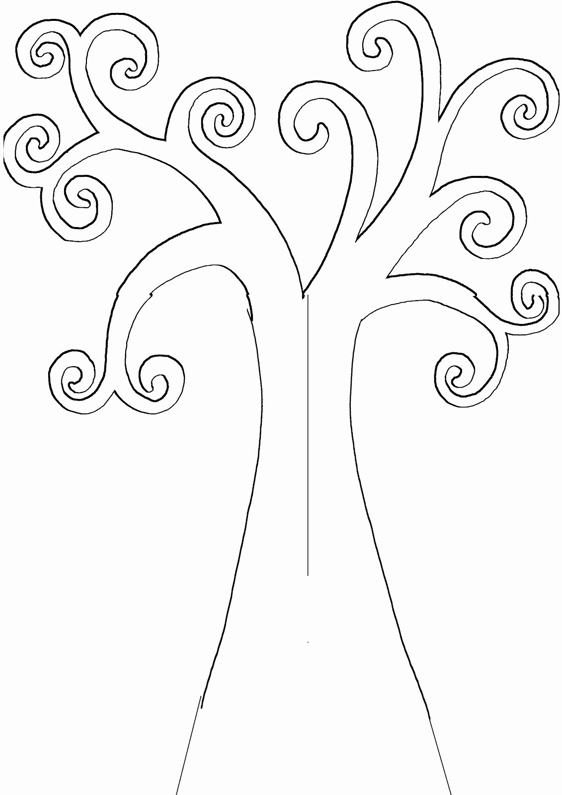 Tree Trunk Template Unique Tree Trunk Coloring Pages