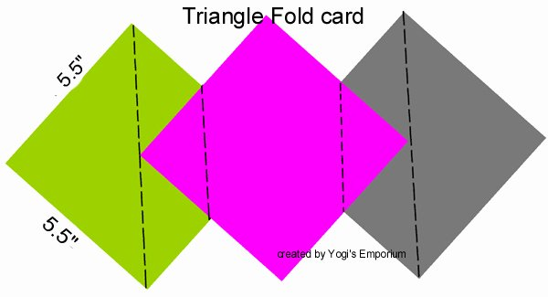 Triangle Foldable Template Awesome Quietfire Creations Triangle Fold Friends